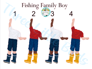 Fishing Family & Friends Clock - Many Elements to Choose From