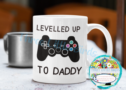 Levelled Up To Daddy - Mug