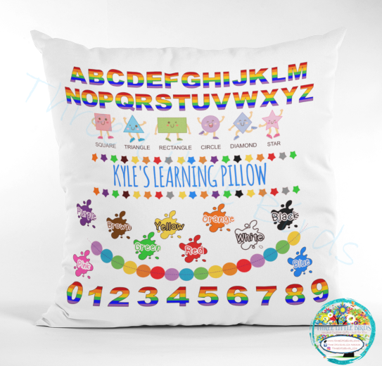 Learning Pillow - Colourful Letters, Shapes, Colours & Numbers