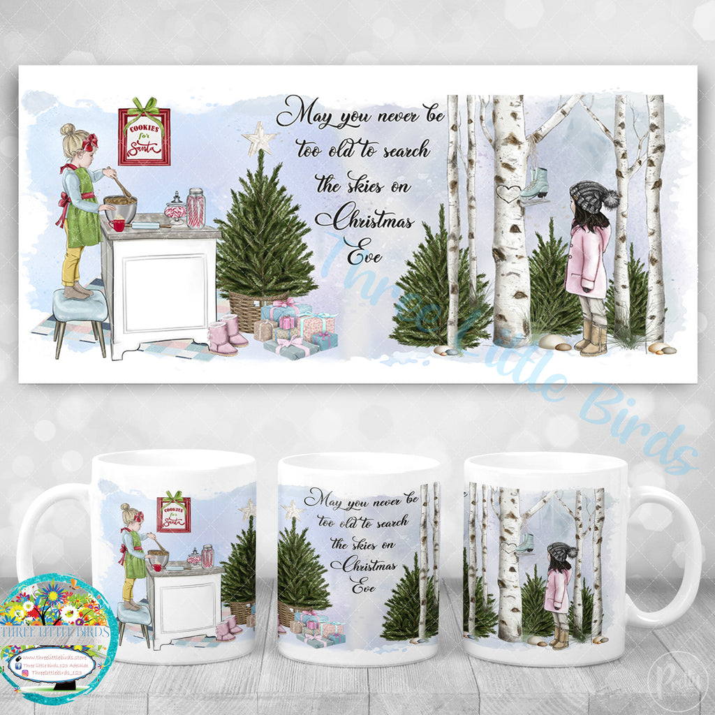 May You Never Be Too Old (Girl) - Christmas Mug & Coaster Set