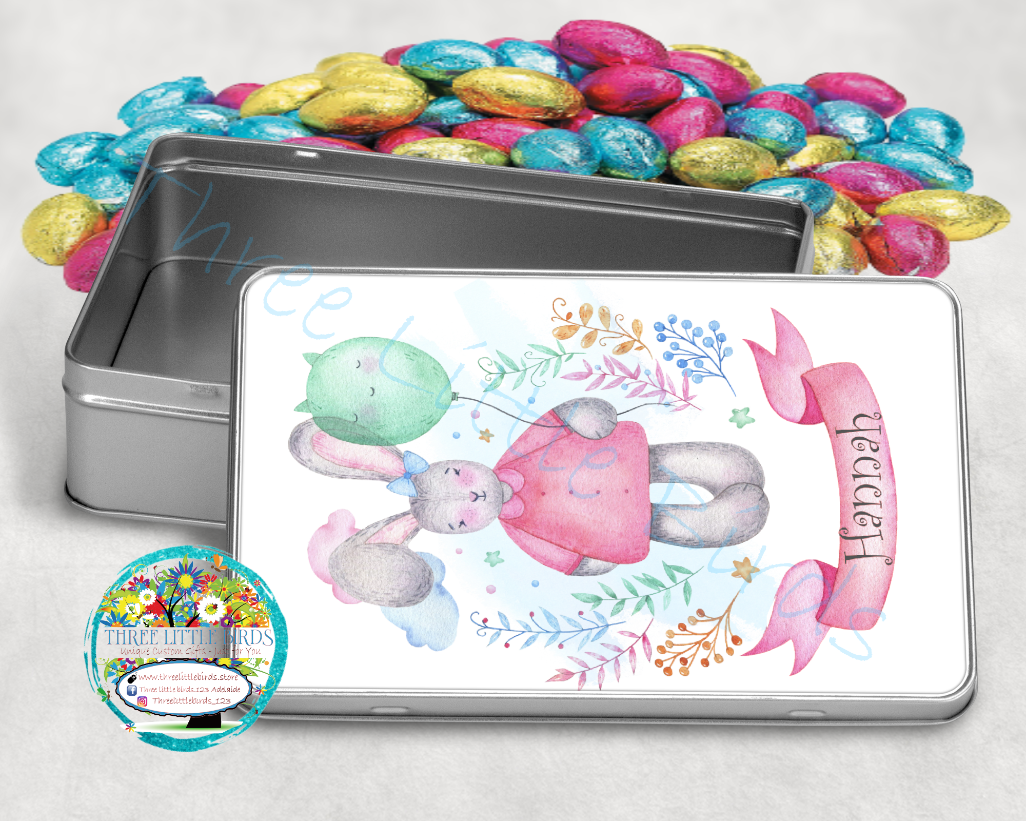 Easter Treat Tin - Personalised - Choice of 2 Designs