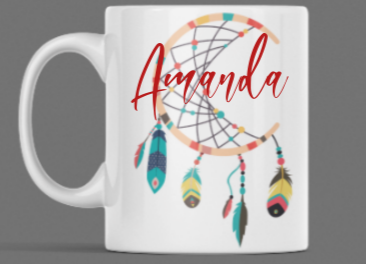 Personalised Dream Catcher Mug - Many Variations to Choose From!