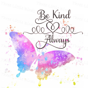 Be Kind Always Butterfly Cushion
