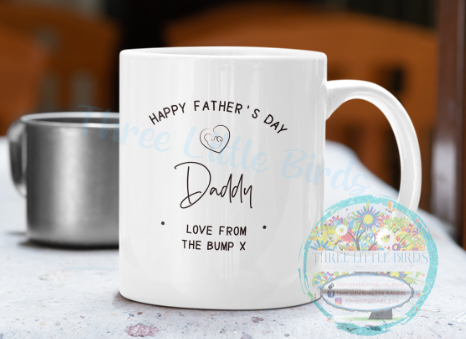 To Daddy Love From The Bump - Mug