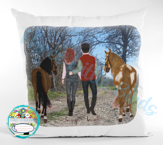 Customisable Horse Riding Cushion