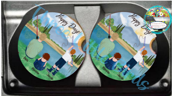 Set of 2 Ceramic Car Coasters - Personalised & Designed to Suit!