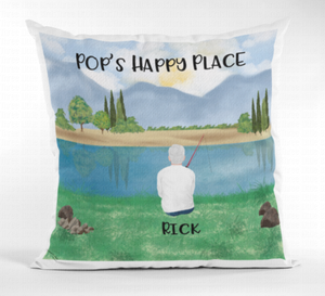 Fishing Family & Friends Cushion - Many Elements to Choose From