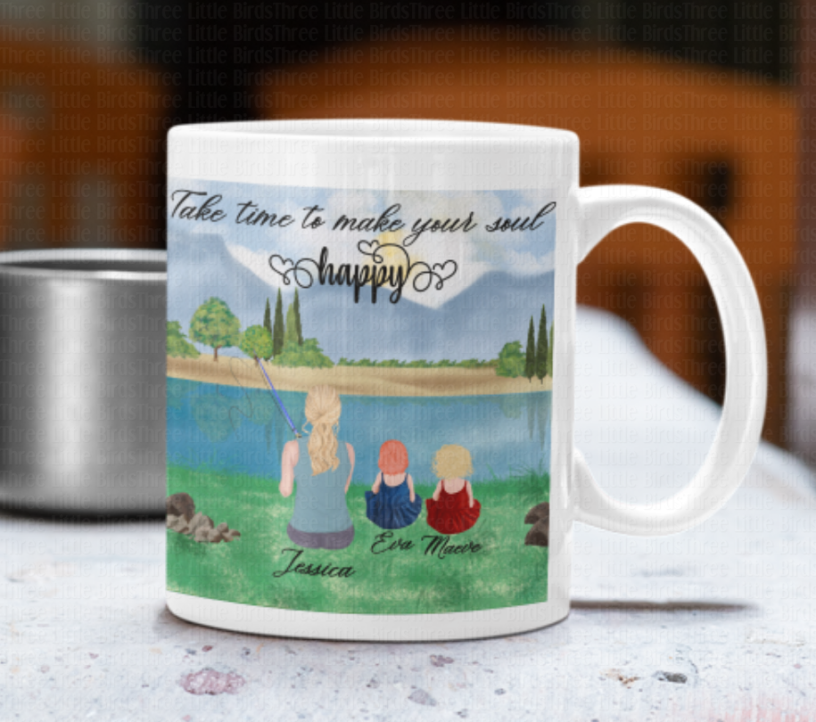 Fishing Family & Friends Mug - Many Elements to Choose From