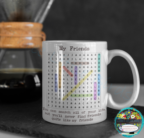 Family/Friends Wordsearch Mug