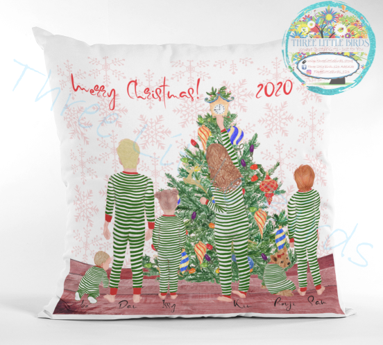Christmas Pyjama Family & Friends Cushion