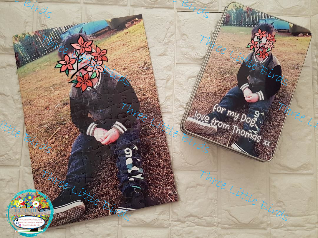 Personalised Jigsaw with Matching Storage Tin - A4 or A3 Sizes Available