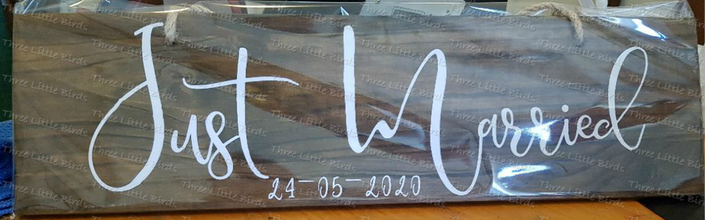 Rustic Personalised Wooden Plaque - Any name/phrase can be added