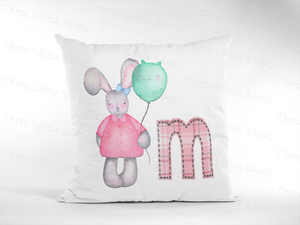 Personalised Cushion - Watercolour Bunnies