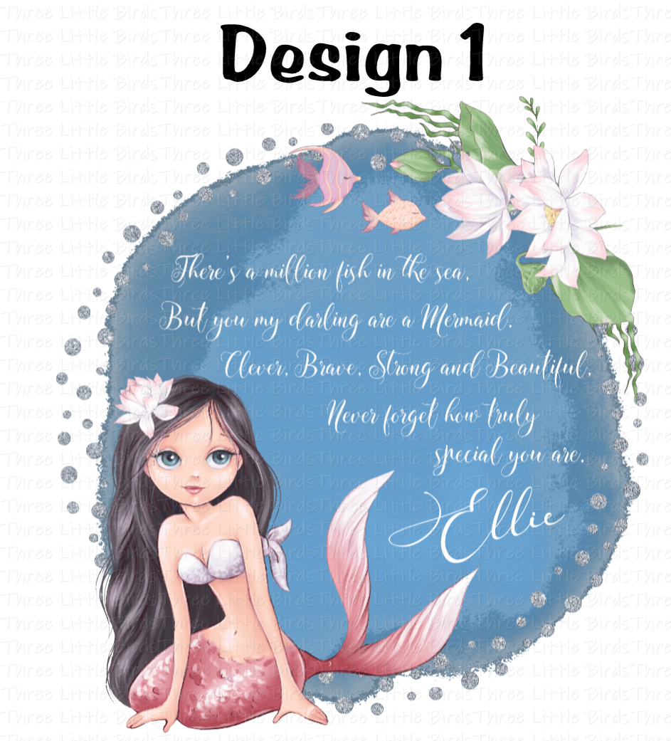 Personalised Mermaid Cushion - 5 Designs to choose from