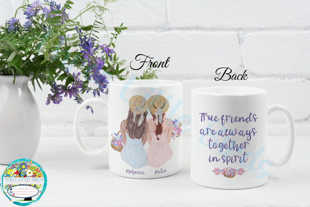 True Friends are Always Together in Spirit - Mug