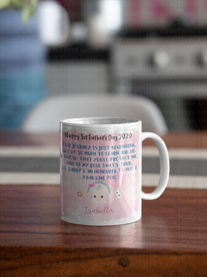 1st Father's Day Mug - Baby Boy or Girl