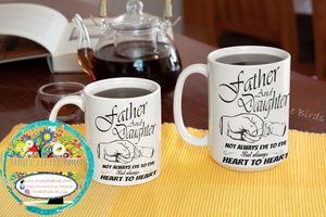 Father and Daughter Father's Day Mug