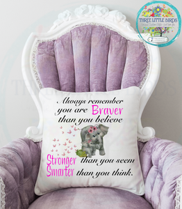 Always Remember ....... Elephant Cushion