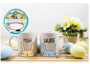Cute Bunny Personalised Mug