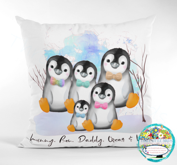 Animal Family Portrait - Cushion