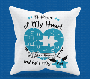 A Piece of My Heart is in Heaven -  Cushion