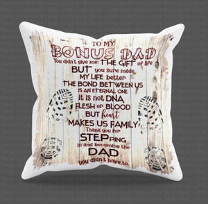 Bonus Dad - Step Dad Cushion