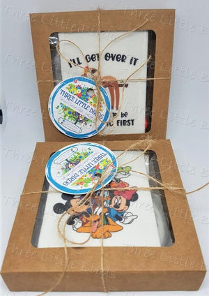 Set of Two Car Coasters with matching Car Air Freshener-Any Design/s!