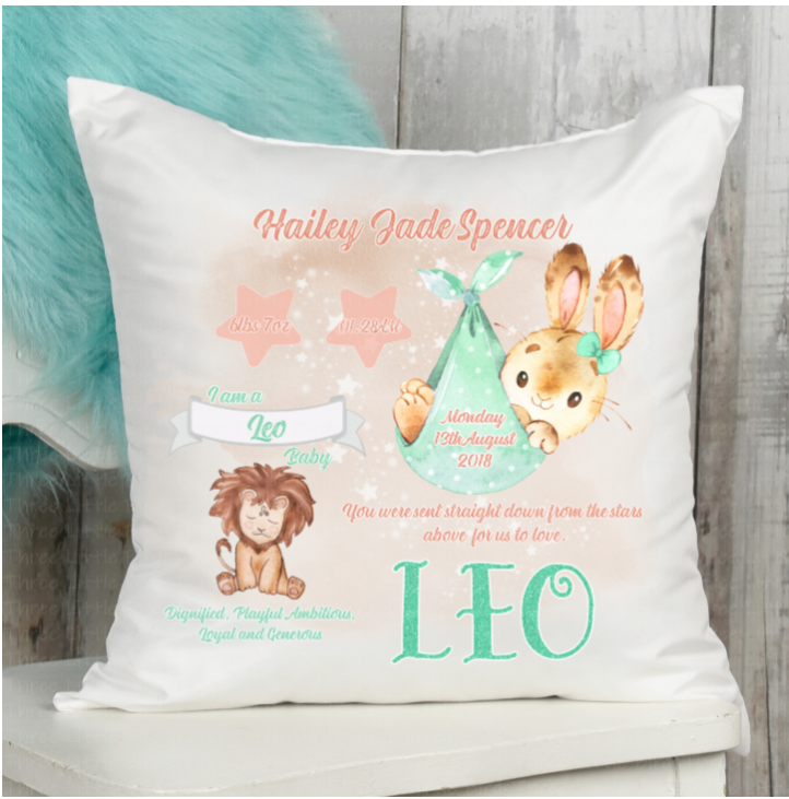 Baby Star Sign Keepsake Cushions