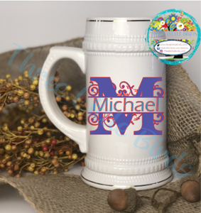 22oz Beer Stein - Any image - Back in Stock Now!