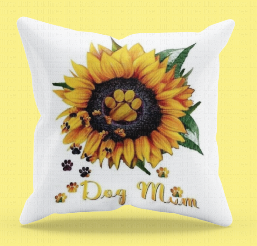 Dog Mum - Sunflower Cushion