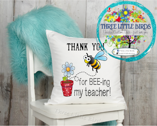 Thank you for Bee-ing My Teacher Cushion