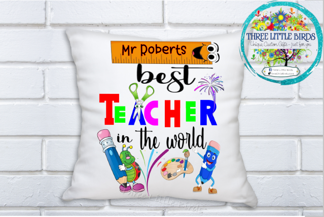 Best Teacher in the World 2 Cushion