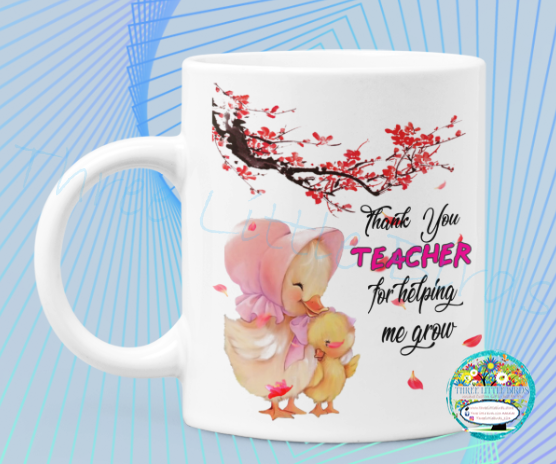 Teacher Easter Chick Mug and Coaster set - Gift Boxed