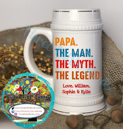 The Man The Myth The Legend - 22oz Beer Stein