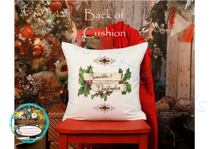 Our 1st Christmas as Mr & Mrs Double Sided Cushion
