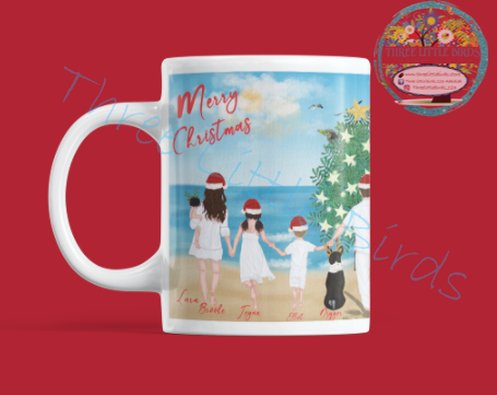 Christmas in the Sun Family & Friends Mug & Coaster Set