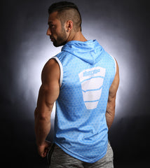 PowerArmour Hoodied Vest Blue