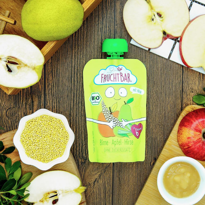 [T] Organic Fruit Puree with Millet - Pear & Apple 100g