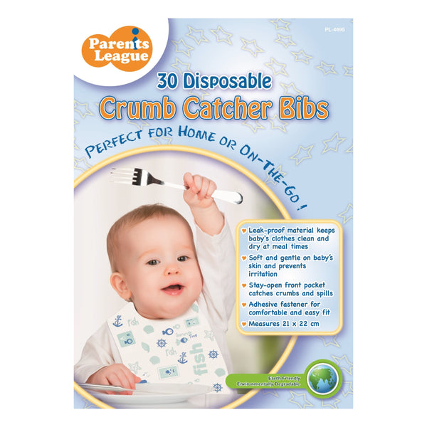 Disposable Crumb Catcher Bib 30's