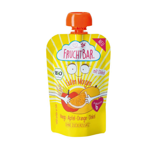 Organic Fruit Puree with Spelt - Mango, Apple & Orange 100g