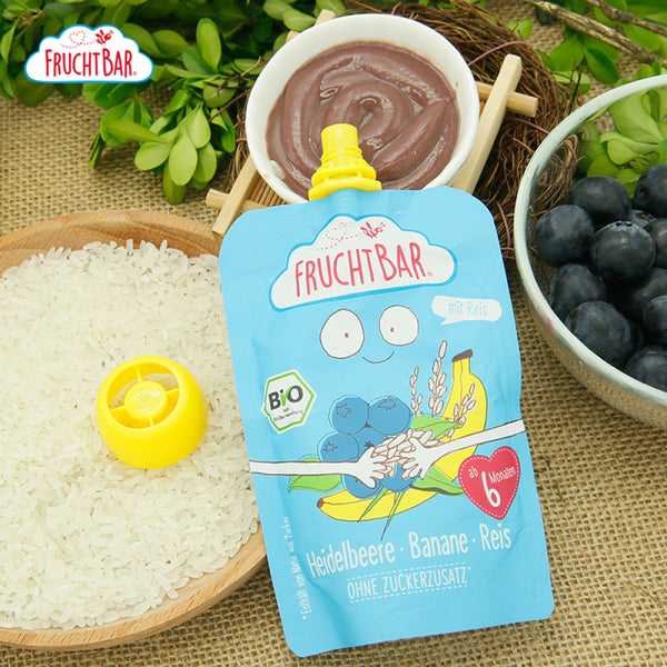 [T] Organic Fruit Puree with Rice - Blueberry & Banana 100g