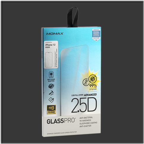 "[T] Momax 5.4"" Glass Pro+ 2.5D Screen Protector (for iPhone 12 Mini)"