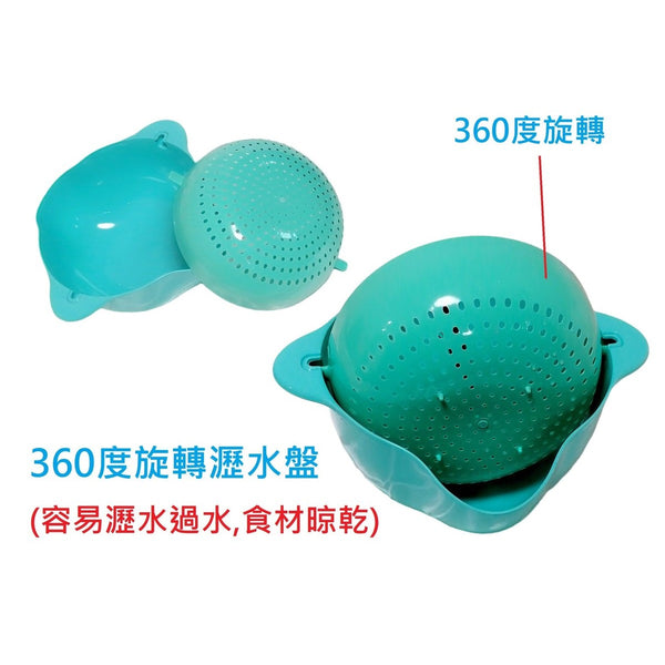 28 LoveHome - 360-degree rotating drainage Basket