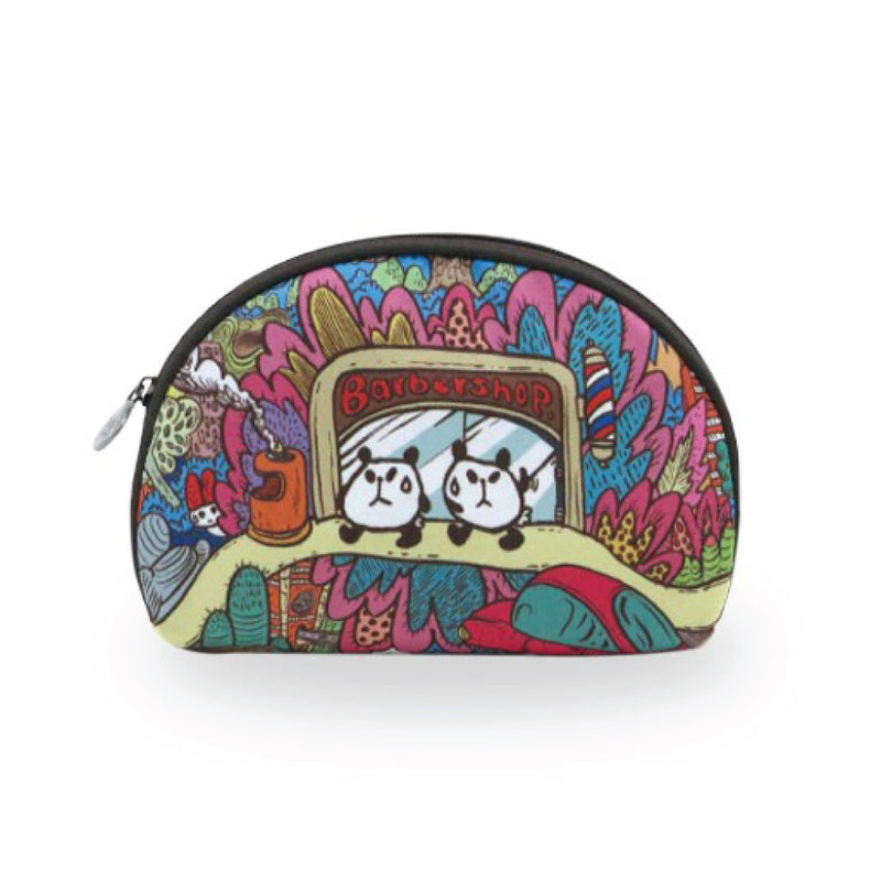 Panda Barbershop Cosmetic Bag (Big)