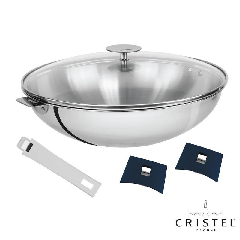 France Cristel - Chinese Wok with Detachable Handles