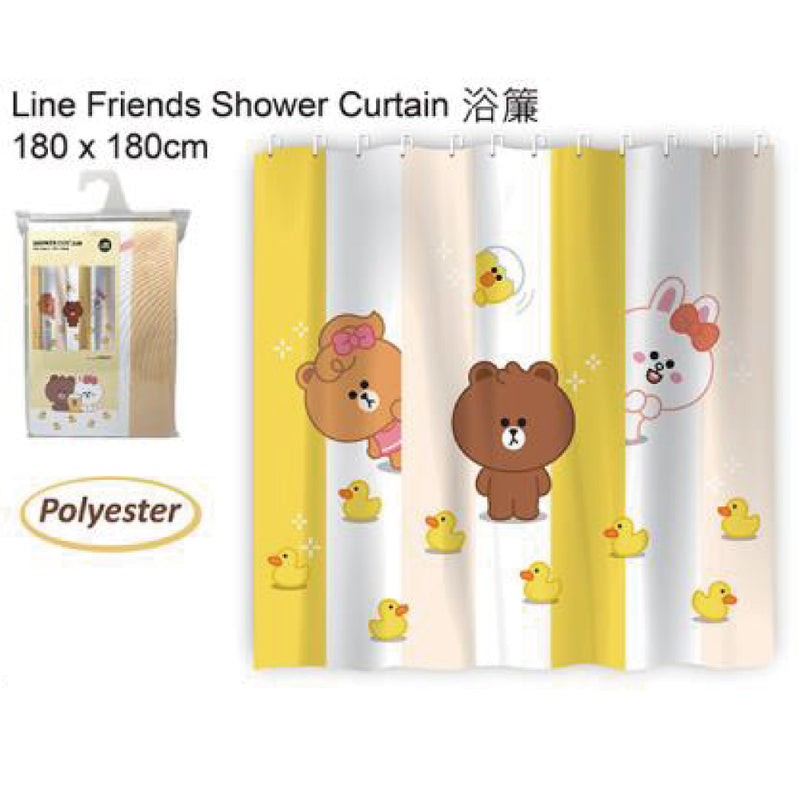 [T] LINE FRIENDS SHOWER CURTAIN 180X180CM