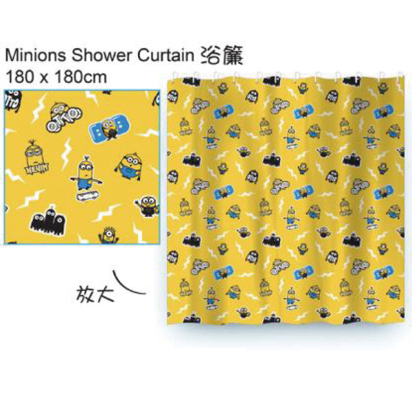 [T] MINIONS SHOWER CURTAIN