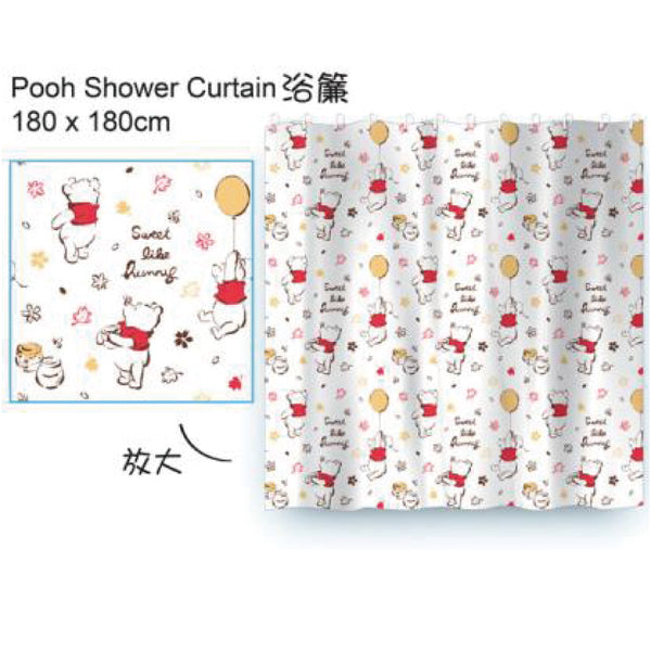 POOH SHOWER CURTAIN 180X180CM