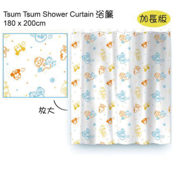 [T] TSUM TSUM SHOWER CURTAIN 180X200CM
