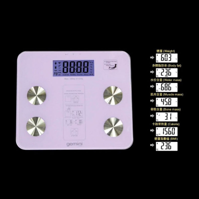 Gemini Body Composition Monitoring Scale GWS2V (Purple)